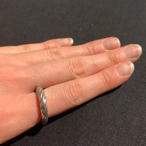 VINTAGE Twisted Silver Ring